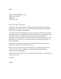Cover Letter Staff Accountant Sarahepps Com