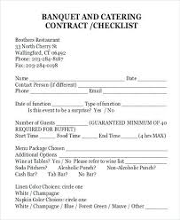 Catering Contract Template Interesting Wedding Venue Contract Template Awesome Standard Catering