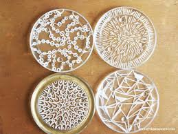 turn small glass candle plates into diy coasters this easy and modern tutorial for diy