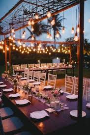 outdoor wedding lighting decoration ideas. Outdoor Wedding Lighting Decoration Ideas Lights Love Bulbs Hanging Over The Reception For An Industrial Feel