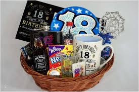 18th birthday presents new personalised 18th birthday gift basket for boys