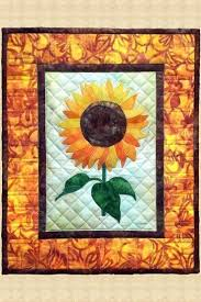 sunflower quilted wall hanging pattern
