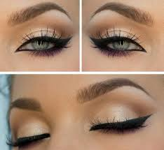 line the top lid with a um thick line start by putting a tiny bit before the inner corner of your eye starts go up and around the top lid to the