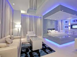 Cool bedrooms for modern bedroom decorating with modern lighting design use  modern white platform bed in