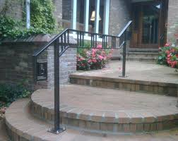 Outdoor Stair Railing Brilliant Exterior Wrought Iron Railings With 1 ...