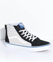vans shoes black and white boys. vans boys sk8-hi black \u0026 micro chip zippered skate shoes and white n