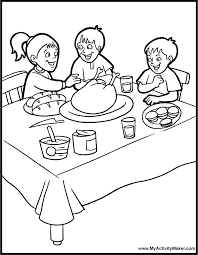 Small Picture Thanksgiving Coloring Pages Thanksgiving Dinner Coloring Pages