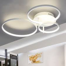 designer modern lighting. new arrival circle rings designer modern led ceiling lights lamp for living room bedroom remote control lighting