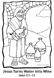 Small Picture Water Into Wine Coloring Page VBS Jesus Pinterest Wine