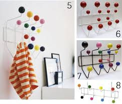 Coloured Ball Coat Rack Coat Rack Eames Style Coat Hooks Home Shopping Spy In Coloured 24