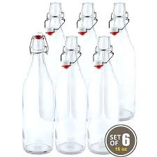 swing top glass bottles swing top easy cap clear glass beer bottles round oz set colored swing top glass bottles