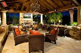patio backyard mediterranean covered tv ideas tropical with stone fireplace small gardens architecture tropical landscape outdoor