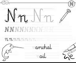 子供たちの手紙 N ブックを書くことを学ぶ お絵かきのベクターアート