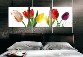 framed art home decor canvas paintings art 3 panel wall art painting flowers framed