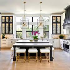 Attractive Example Of A Transitional U Shaped Light Wood Floor And Beige Floor Kitchen  Design In