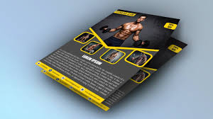 Gym Brochure How To Create GYM Brochure Design In Illustrator Cc 24Fitness 13