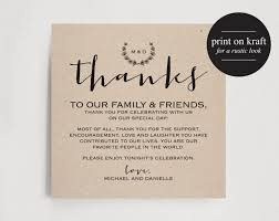 Wedding Thank You Notes Templates Vintage Wedding Thank You Card Table Thank You Card