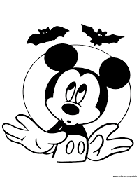 Small Picture Mickey Mouse and bats disney halloween Coloring pages Printable