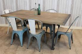 Vintage table and chairs Chair Set Peppermill Interiors Industrial Style Table With Cast Iron Base