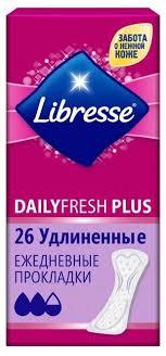 <b>Libresse прокладки</b> ежедневные <b>DailyFresh Plus</b> удлиненные ...