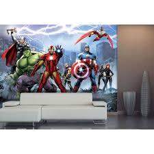 Marvel Bedroom Wallpaper Marvel Avengers Team Wallpaper Great Kidsbedrooms The Children