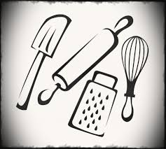kitchen utensil clipart black and white. Exellent Black Full Size Of Kitchen Utensils Clipart Cook Image Black And White Library Throughout Kitchen Utensil Clipart Black And White