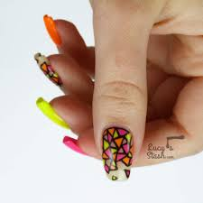 Neon Stained Glass Nail Art | Gel Polish Nails For Nsi - Lucy's ...