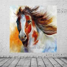 free hand painted modern abstract horse oil paintings on canvas wall art horse wall picture