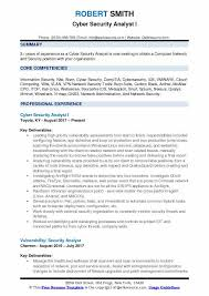 Cloud Computing Cv Cyber Security Analyst Resume Samples Qwikresume