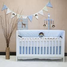 image of fun monkey crib bedding set