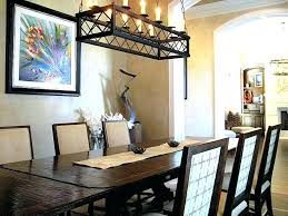 round chandelier over rectangular table large size