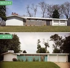 mid century modern front porch. Alesha Restores The Original 1961 Exterior Paint Colors On Her Midcentury Modern. Mid Century Modern Front Porch G