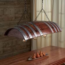 one third oak wine barrel chandelier wood lamps restaurant bar pendant