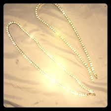 14k gold iced out diamond tennis chains no tarnish