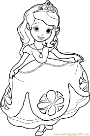Small Picture Princess Sofia Coloring Page Free Disney Princesses Coloring