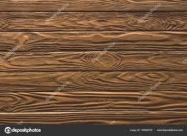 Wooden Fence Horizontal Planks Background Painted Brown Stock