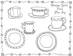 Small Picture Tea Party Coloring Page Money Pages nebulosabarcom