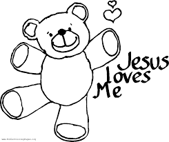 Beautiful Jesus Loves Me Coloring Pages Printables With And
