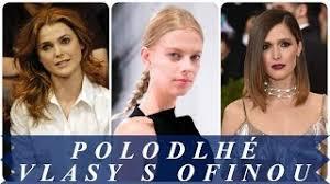účesy Polodlouhé Vlasy Sestříhané