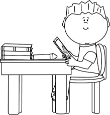 desk clipart black and white. art clip student work at desk #1735703 clipart black and white t