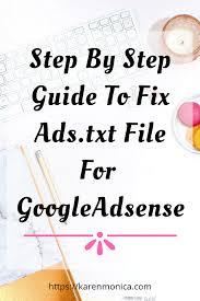 fix ads txt issue for google adsense