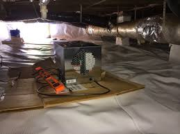 diy crawl space encapsulation on a budget day 6 install dehumidifier