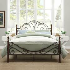 Antique Metal Bed Frame Bronze Iron Scroll Full Queen King Size ...
