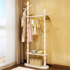Weiß Shuang Achun Regal Garderobe Boden Massivholz Home Kleiderbügel