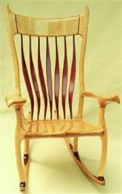 purple heart wood furniture. tiger maple and purple heart rocking chair wood furniture
