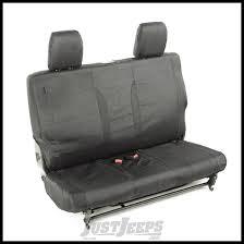 rugged ridge elite ballistic rear seat covers black for 2016 17 jeep wrangler jk