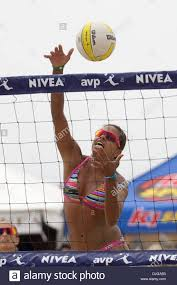 Priscilla Lima hits a shot during a quarterfinal match against Jenny Stock  Photo - Alamy