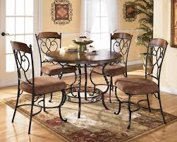 table amusing round kitchen table set 17 metal and glass dining chairs stainless steel top