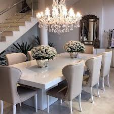 dining room ideas pinterest. sleek white table with ivorybeige dining chairs top off the sophisticated look room ideas pinterest