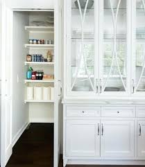 L White China Hutch Kitchen Glass Front Cabinet Design  Ideas For